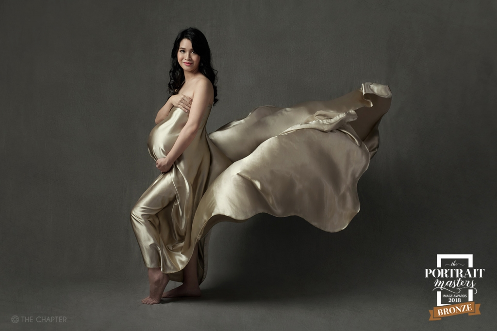 maternity portraits ipoh malaysia photographer, the portrait master award 2018, photographer ipoh, fine art portrait ipoh